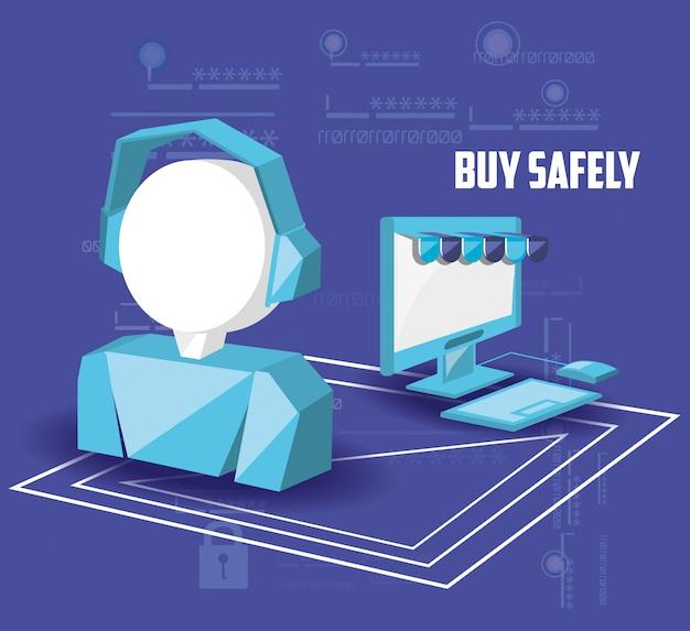 Achetez en toute sécurité en ligne avec le bureau