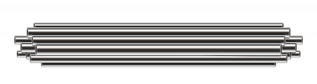 Acier, aluminium, tuyaux en métal, pile de tubes, pvc.