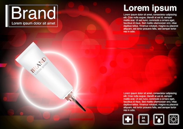 Acne crème cosmétique annonce concept.