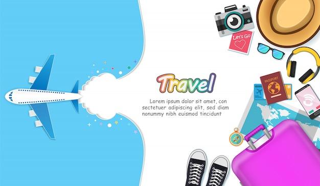 Actif de voyage autour du concept mondial