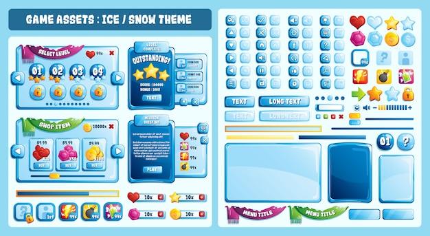 Actifs du jeu sur le thème de la glace