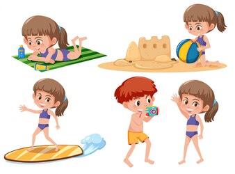 Activité de plage pour enfants