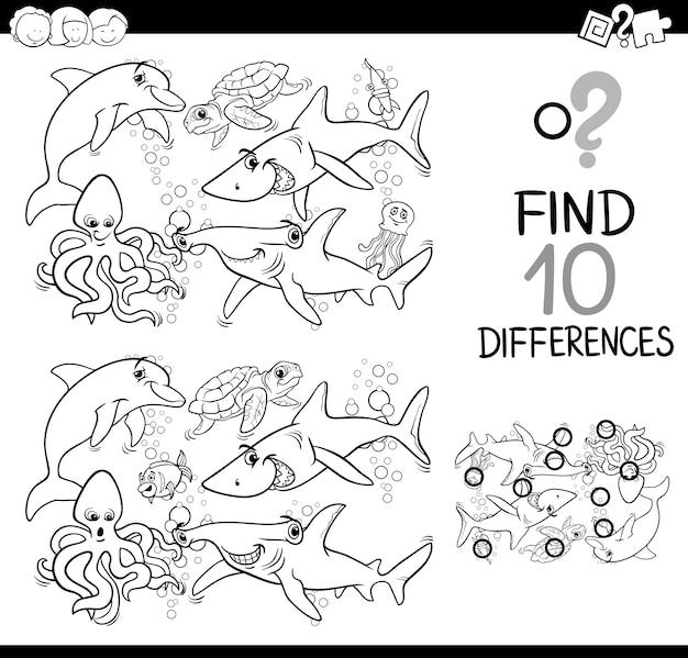 Activité de différence de vie de la mer