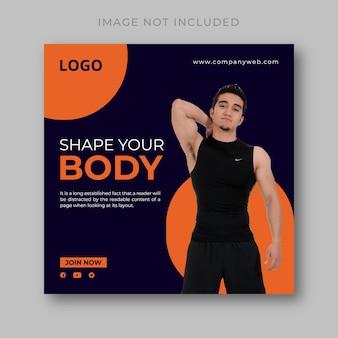 Activité de gym conception de publication instagram
