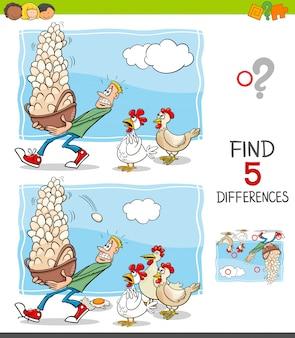 Activité de jeu différences pour les enfants