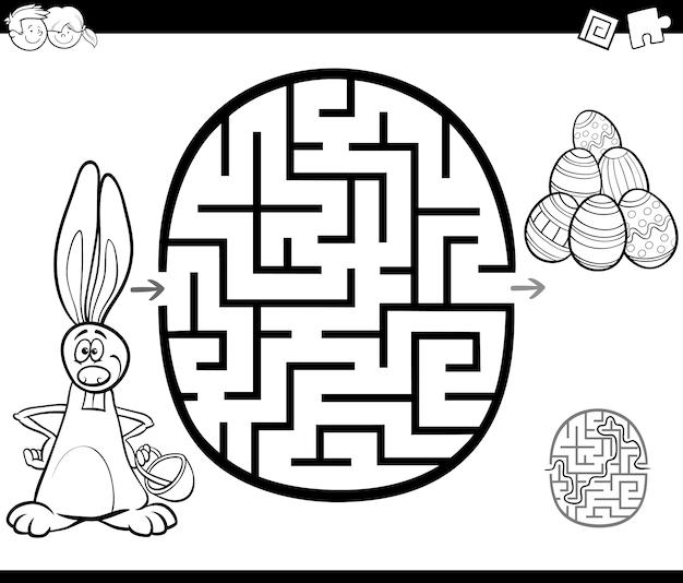 Activité de labyrinthe de pâques pour la coloration