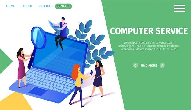 Activité des personnages de little people sur un énorme ordinateur portable