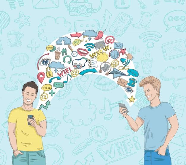 Activité de réseau social