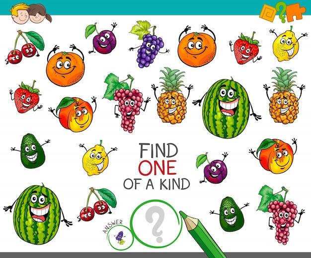 Une activité unique avec des personnages fruitiers