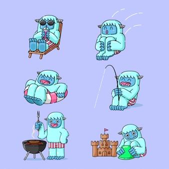 Activité de vacances d'été ice man