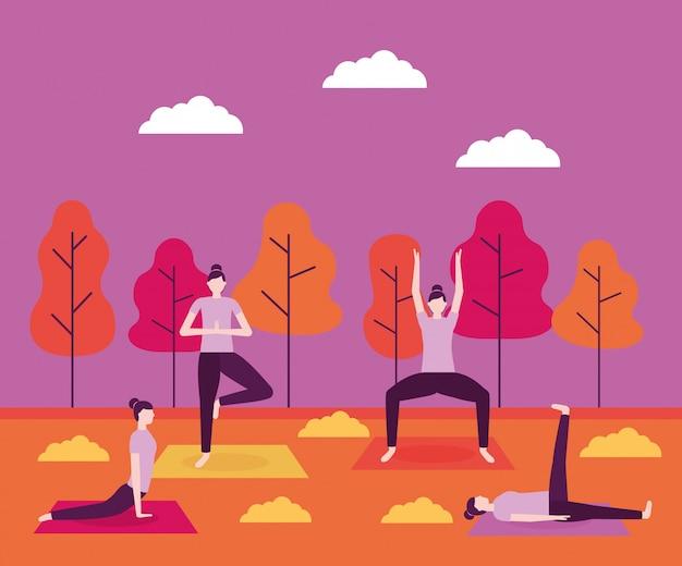Activité de yoga populaire