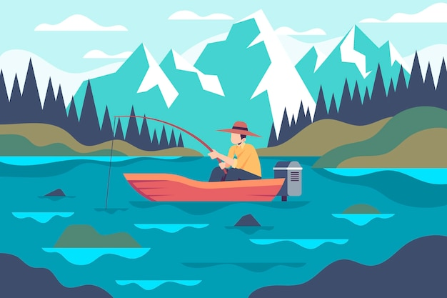 Activités de plein air avec pêche