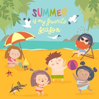 Activités de plein air pour enfants d'été