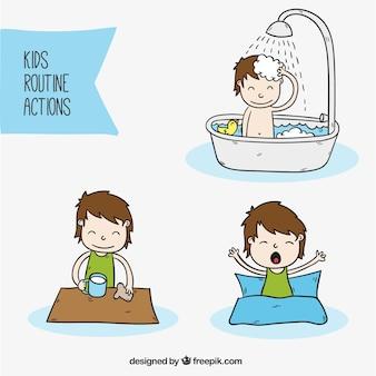 Les activités quotidiennes d'un enfant