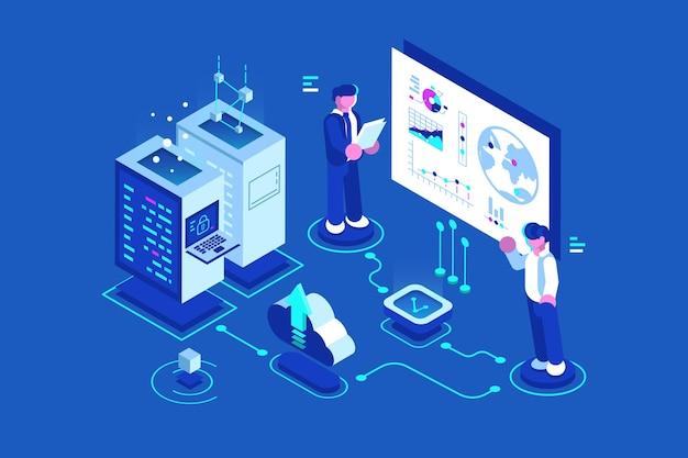 Administrateur de connexion au centre de données internet de l'hébergement web