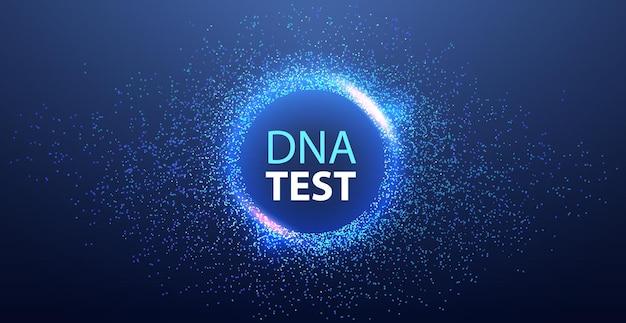 Adn génétique science modèle molécule structure test clinique traitement médical recherche et test