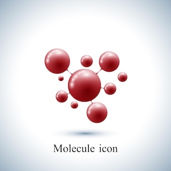 Adn et molécule d'icône de logotype moderne