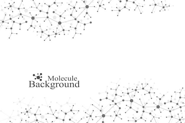 Adn de molécule de structure moderne. atome. fond de molécule et de communication pour la médecine, la science, la technologie, la chimie. contexte scientifique médical.