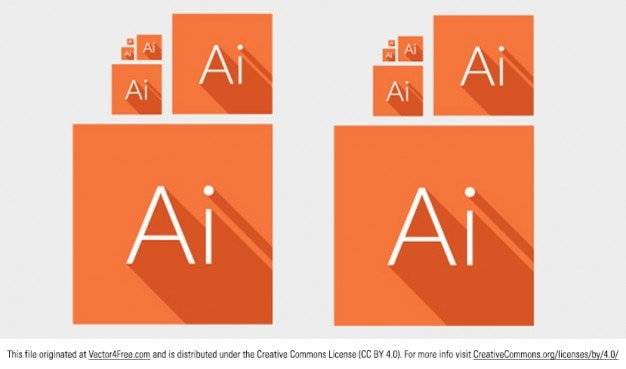 Adobe illustrator icônes carrés