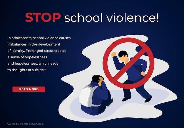 Adolescent agressif intimidation victime d'écolier