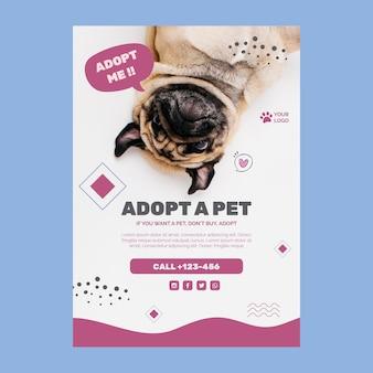Adoptez une affiche de modèle d'animal de compagnie