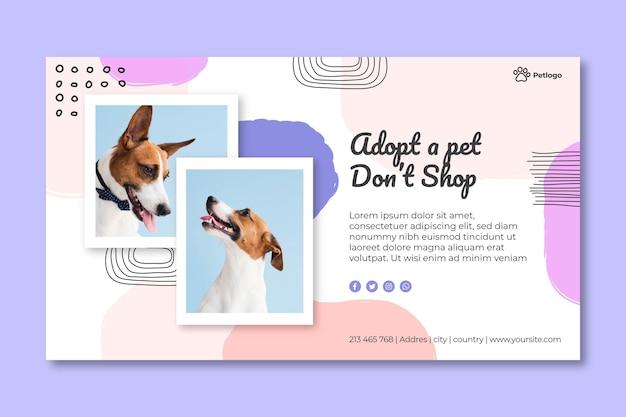 Adoptez une bannière pour animaux de compagnie