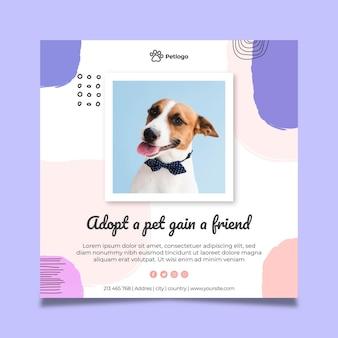 Adoptez un carré de flyer pour animaux de compagnie