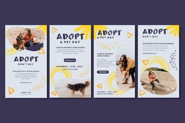 Adoptez une collection d'histoires instagram pour animaux de compagnie