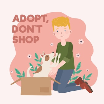Adoptez un concept pour animaux de compagnie