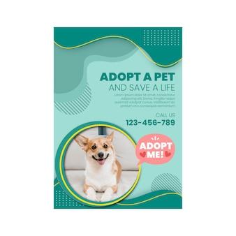 Adoptez un flyer vertical pour animaux de compagnie