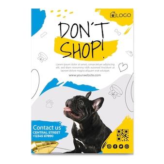 Adoptez un modèle de flyer pour animaux de compagnie