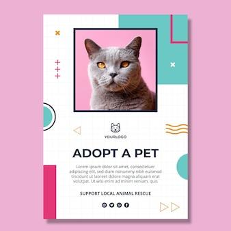 Adoptez un modèle de flyer vertical pour animaux de compagnie