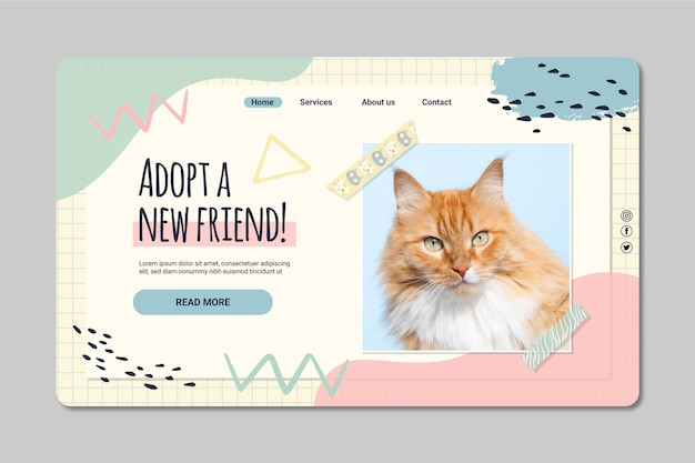 Adoptez un modèle de page de destination pour un ami