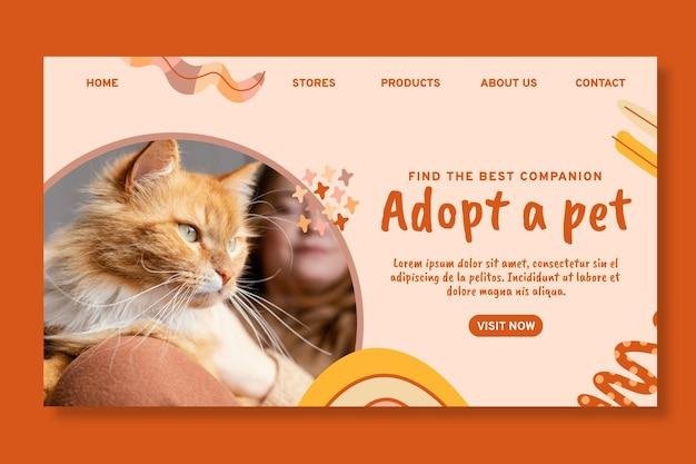 Adoptez un modèle de page de destination pour animaux de compagnie