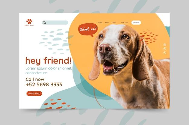 Adoptez une page de destination pour animaux de compagnie
