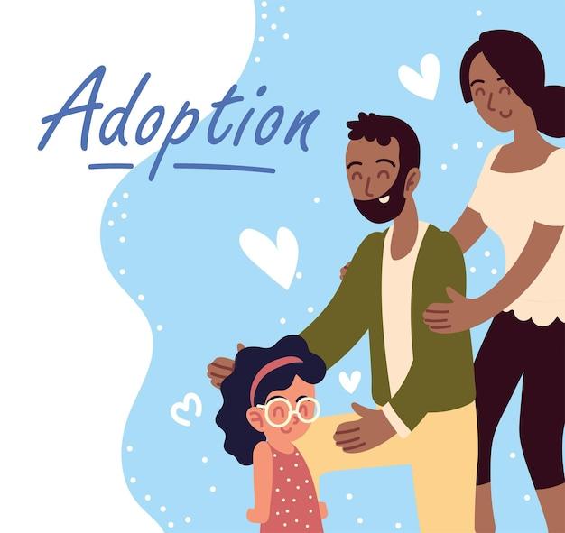 Adoption couple et fille