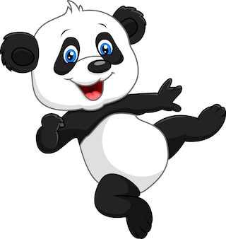 Adorable bébé panda isolé sur fond blanc