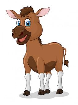 Adorable dessin animé d'âne