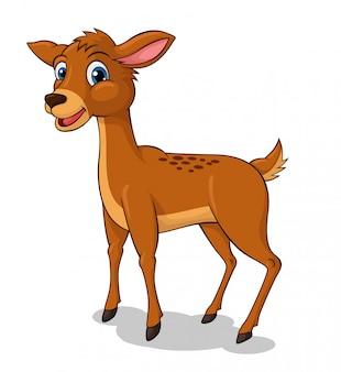 Adorable dessin animé de cerf