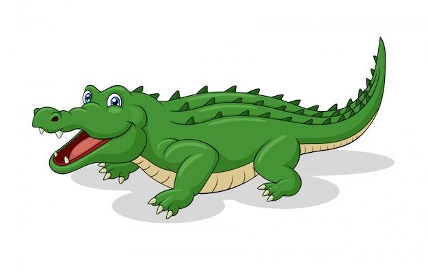 Adorable dessin animé de crocodile