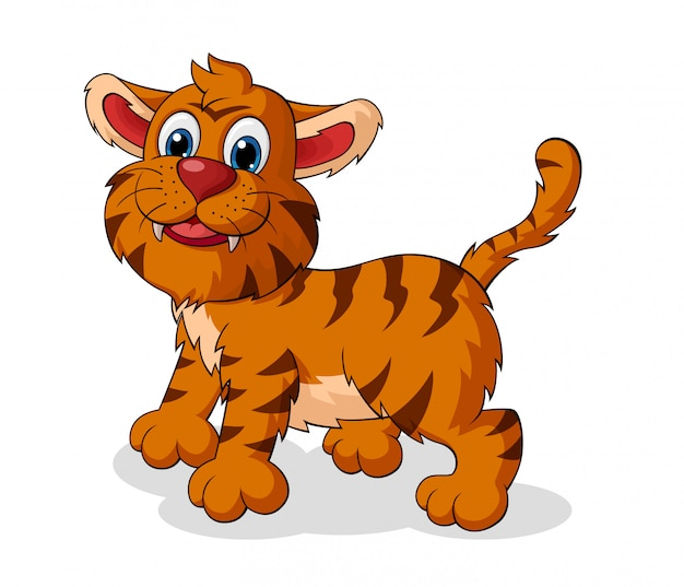 Adorable dessin animé de tigre