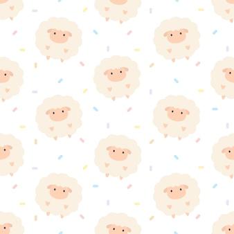 Adorable mouton fond transparent motif répétitif, fond d'écran, joli fond transparent