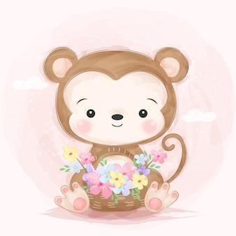Adorable petite illustration de singe