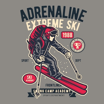 Adrénaline extrême ski