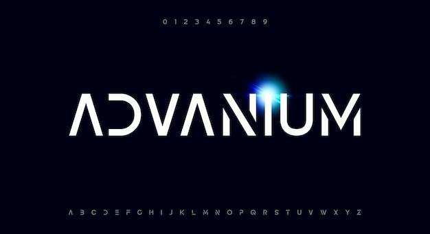 Advanium une police de caractères moderne et épurée avec un thème scifi futuriste