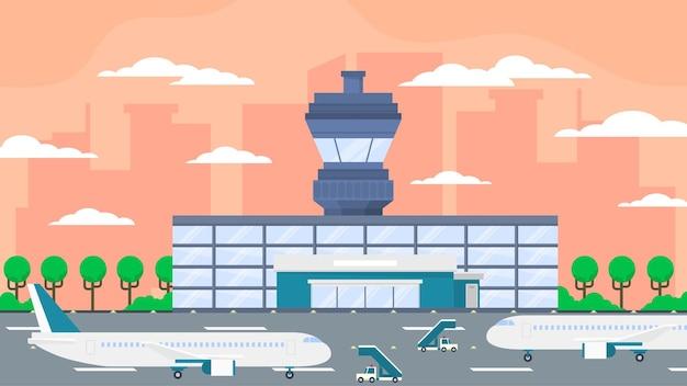 Aéroport international - scènes extérieures