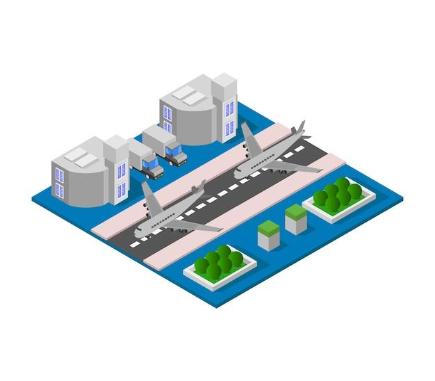 Aéroport isométrique