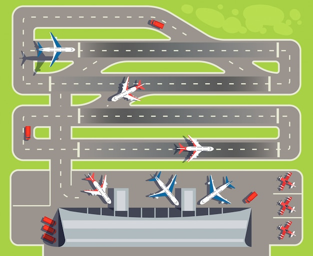 Aéroport avec terminal passagers