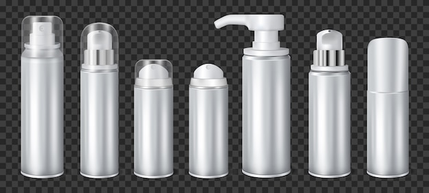 Aérosol en aluminium transparent