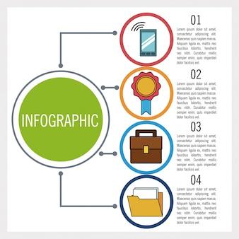 Affaires et éducation infographique